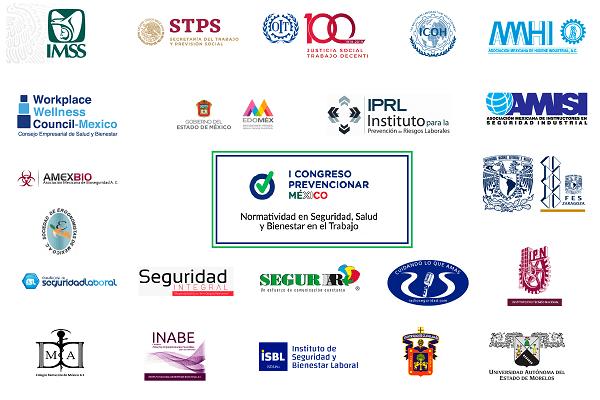 El Primer Congreso Prevencionar México tiene el apoyo de instituciones y medios de apoyo. ¡Conócelos!