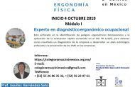 ¡Inscríbete al módulo 1 de la segunda edición de la Especialización sobre Ergonomía Física!