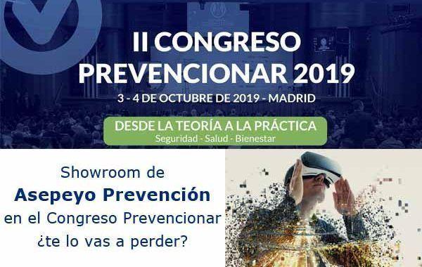 Showroom de Asepeyo Prevención en el II Congreso Prevencionar ¿te lo vas a perder?