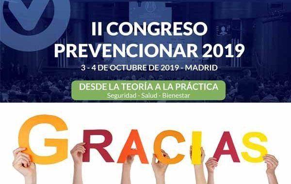 Finaliza con éxito el II Congreso Prevencionar
