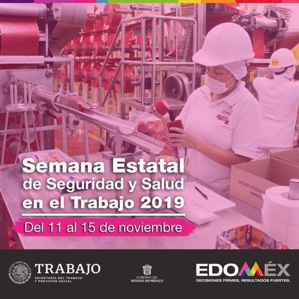 Invitación a la Semana Estatal de Seguridad y Salud en el Trabajo 2019 del EdoMex
