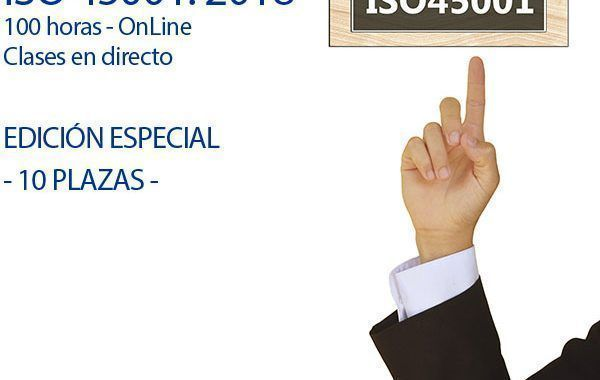 Curso Auditor Líder ISO 45001 - Modalidad OnLine - Mayo - 10 plazas