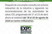Expo Seguridad Industrial se mueve a Agosto