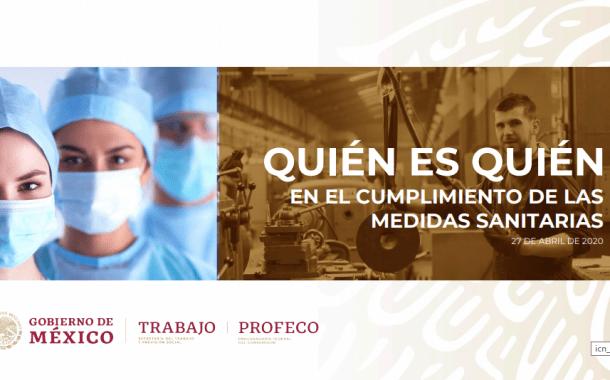 STPS: El 87% de empresas inspeccionadas cumple con las medidas sanitarias ante el COVID-19