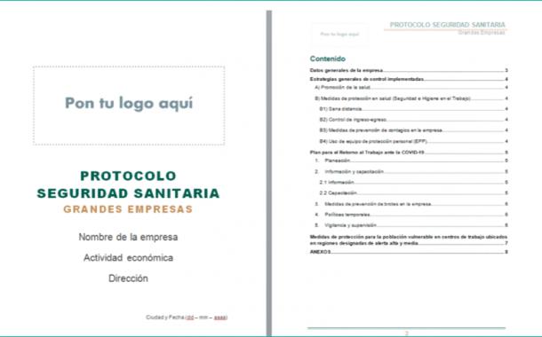 Descarga YA los modelos de Protocolo de Seguridad Sanitaria en formato editable