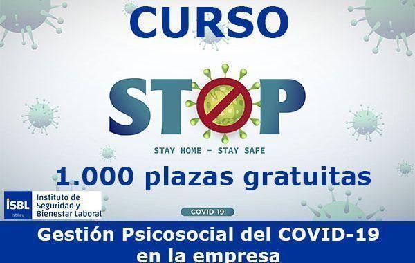 ISBL lanza 1.000 plazas gratuitas para formarse en la «Gestión Psicosocial del COVID-19»