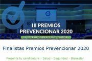 Finalistas III Edición Premios Prevencionar 2020