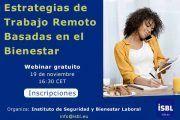 Estrategias de Trabajo en Remoto Basadas en el Bienestar #webinar
