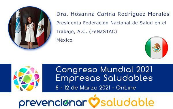 La Dra. Hosanna Carina Rodríguez Morales participará en el Congreso Mundial de Empresas Saludables