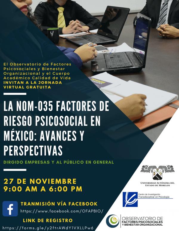 Jornada NOM-035 México. OFAPBIO, UAEM