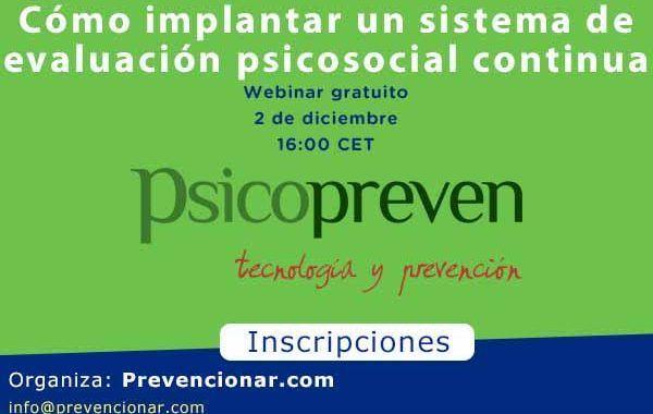 Cómo implantar un sistema de evaluación psicosocial continua #webinar