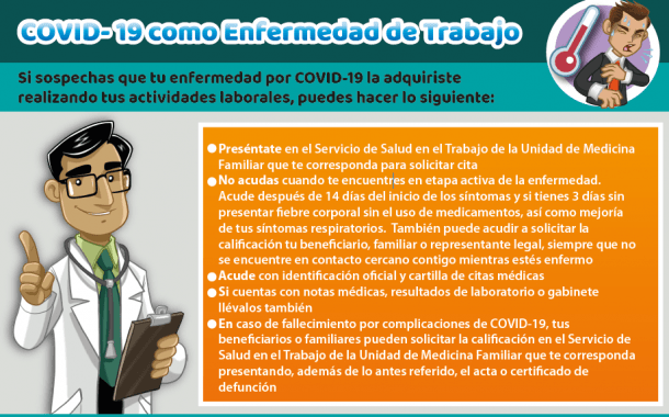IMSS: COVID como enfermedad de trabajo