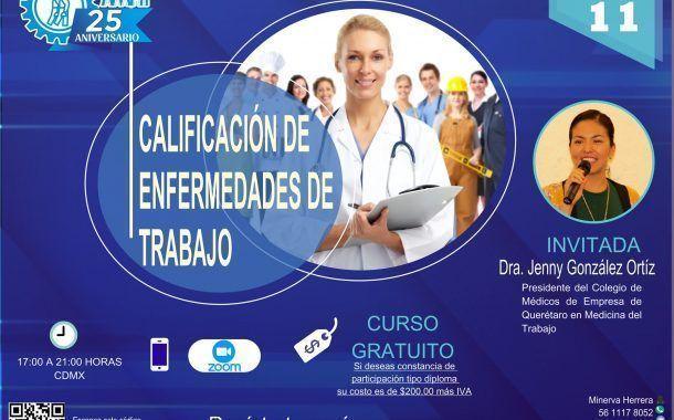 Inscríbete a curso gratuito sobre Calificación de enfermedades del trabajo este 11 marzo