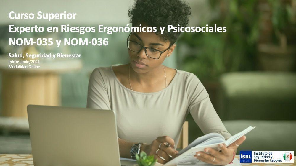 Curso Superior Experto en Riesgos Ergonómicos y Psicosociales NOM-035 y NOM-036