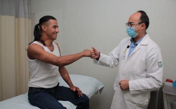 Especialistas del IMSS en Magdalena de las Salinas rehabilitan con éxito a paciente que sufrió quemaduras por descarga eléctrica.