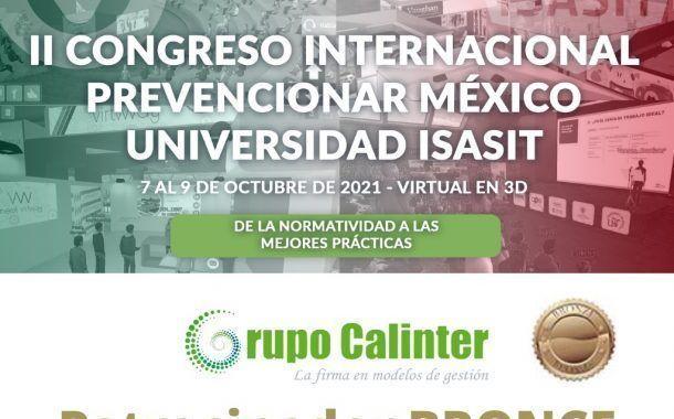Grupo Calinter confirma su patrocinio al II Congreso Internacional Prevencionar México – Universidad ISASIT