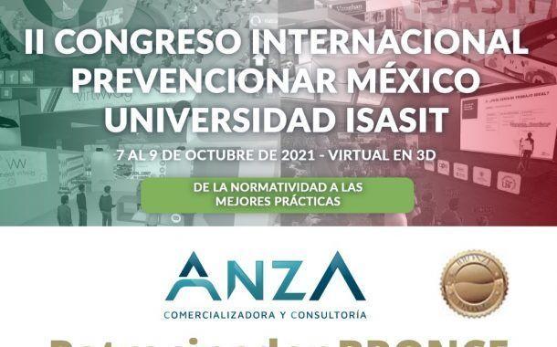 Anza confirma su patrocinio al II Congreso Internacional Prevencionar México - Universidad ISASIT