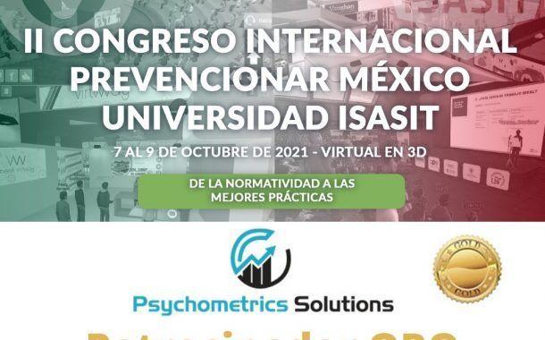 Psychometrics Solutions confirma su patrocinio al II Congreso Internacional Prevencionar México.