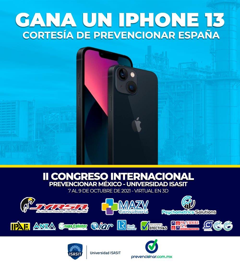 Últimos días: Gana un iPhone 13 inscribiéndote al Congreso Prevencionar + Universidad ISASIT