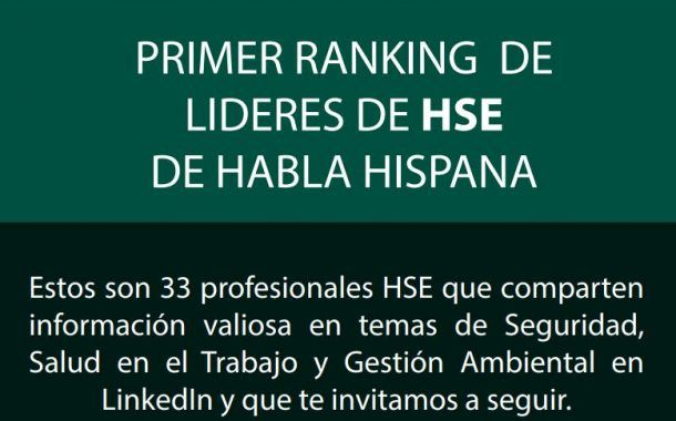Foro para HSE Influencers: El primer ranking de líderes de HSE de habla Hispana una iniciativa de APDR y AEPSAL.