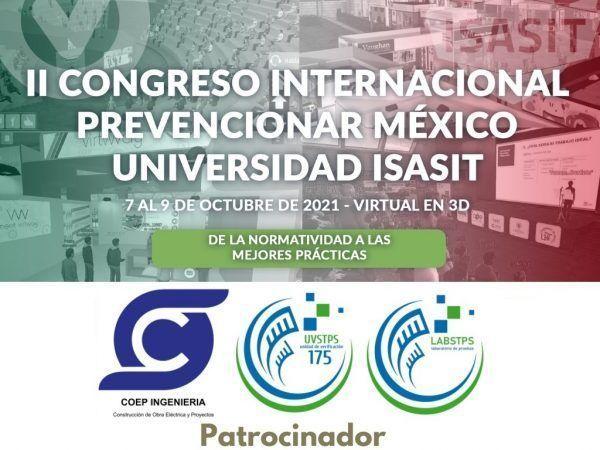 COEP confirma su patrocinio al II Congreso Internacional Prevencionar México – Universidad ISASIT